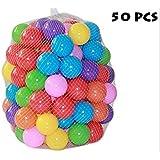 Vi.yo 50 pcs Eco-Friendly coloré boule en plastique souple océan balle drôle de bébé Kid Swim Pit Toy Piscine d'eau vagues de l'océan boule