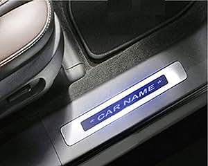 RIDAR Car LED Light Door Foot Step Scuff Sill Plate for Maruti Suzuki New Swift