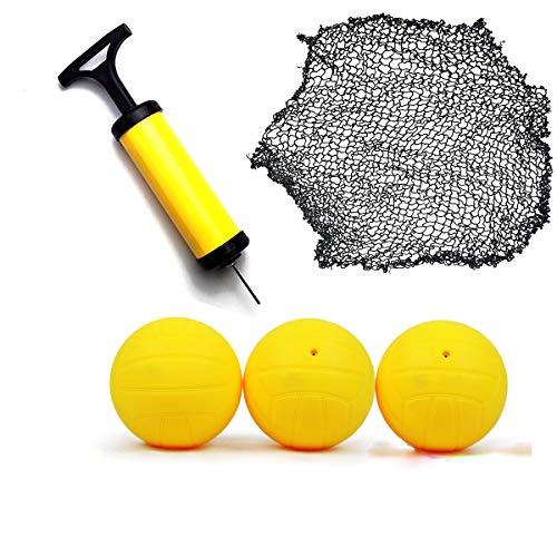 O RLY Handluftpumpe Ballpumpe und Stift, 3 Bälle + Netz Kit für Spikeball