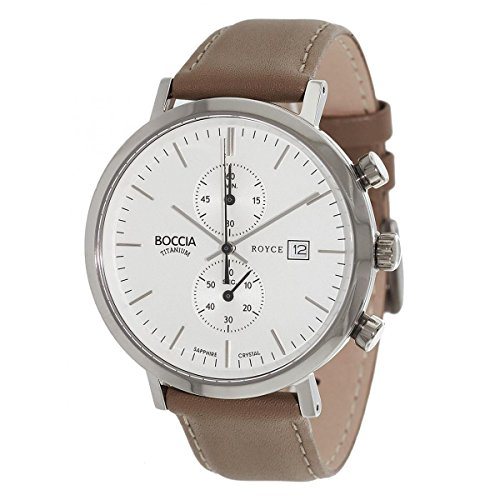 Boccia Unisex Analogue Watch with White Dial Analogue Display - 3752-01