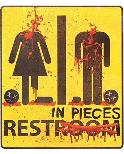 Horror-Shop Zombie Restroom WC-Aufkleber Rest in Pieces 29x32cm