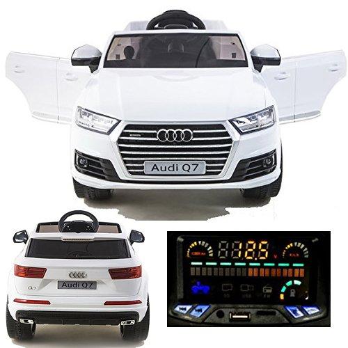 *simron Audi Q7 Quattro SUV Elektro Kinderauto Kinderfahrzeug Ride-On 12V Kinder Elektroauto weiss*
