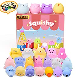 Squishies Mini Squishy Giocattoli Morbidi Misti Cute Squishy Gatto Morbido Spremere, No Tossici e Giocattoli Divertenti di Giocattoli di Sollievo Giocattolo dei Bambini – 20 Pezzi (Colore Casuale)