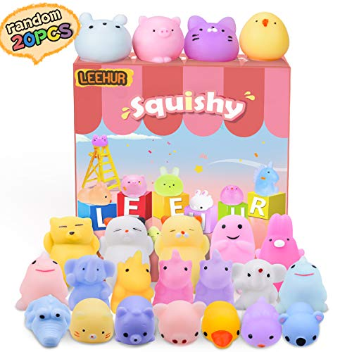 Squishies Mini Squishy Giocattoli Morbidi Misti Cute Squishy Gatto Morbido Spremere, No Tossici e Giocattoli Divertenti di Giocattoli di Sollievo Giocattolo dei Bambini - 20 Pezzi (Colore Casuale)