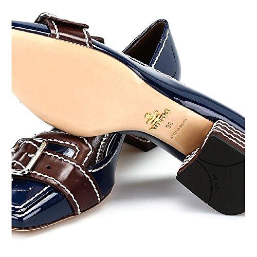 Chaussures à talon Prada en cuir verni Bleu foncé - Code modèle: 1D617F 3AP5 F0V41 Bleu foncé