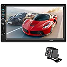 BEENZY Navegación Doble en la Radio del Auto DIN con FHD 1080P Pantalla táctil Pantalla para