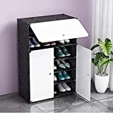 #6: Krevia Plastic Shoe and Clothes Cabinet Storage Organizer Storage with 3 Doors (Color & Design May Very)