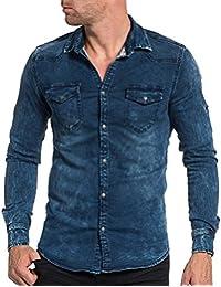 BLZ jeans - Chemise jogg jeans bleu délavé fashion