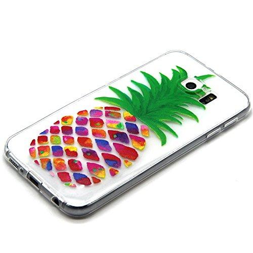 Coque pour Samsung Galaxy S5, Clair Housse en Soft Doux TPU Gel Silicone pour Samsung Galaxy S5, Ekakashop Samsung Galaxy S5 Flexible Souple Cas Back Case Cover de Protection, Ultra Slim Créatif Dessi Peinture ananas