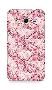 AMEZ designer printed 3d premium high quality back case cover for Samsung Galaxy Core 2 (pink rose)