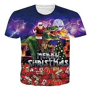 RAISEVERN Camiseta de Navidad Hombres,