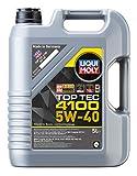 Liqui Moly 3701 Top Tec 4100 5W-40 - Aceite antifricción con tecnología HC y bajo Contenido en azufre para Motores de automóviles de 4 Tiempos (5 L)