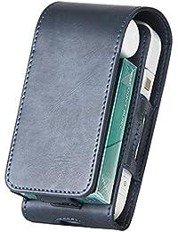 Tasche für Elektronische iQOS-Zigarette, Schutzhülle/Halterung, Platz für Geldbeutel, aus Kunstleder, mit Kartenhalter, für iQOS schwarz(Blau) Original-Produkte von Kuty