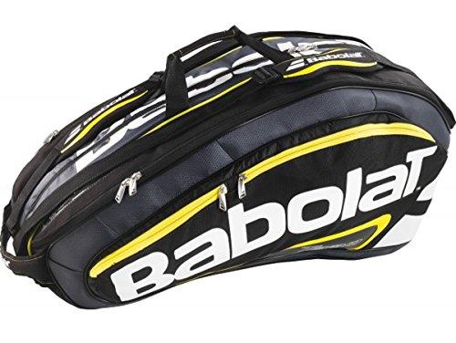 Babolat Schlägertaschen Racket Holder X12 Team Line Yellow, Schwarz, 76 x 44 x 34 cm, 78 Liter, 751089-142