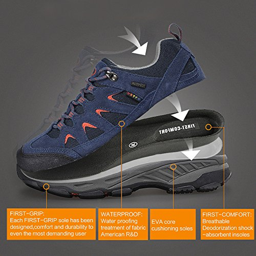 TFO Mens FirstTex Breathable Low Rise Lace Up Hiking Shoes Outdoor Lightweight Waterproof Walking Shoes  IXGQ1FAQH