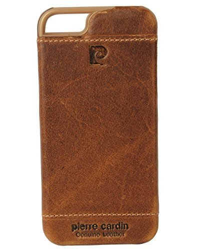 Sanchar's Pierre Cardin Luxury Lather back Case Compatible With Iphone 5 | iphone 5S | iphone SE - Brown