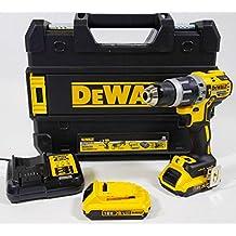 Dewalt DCD796D2-QW - Taladro percutor, color negro y amarillo