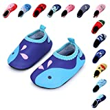 """Laiwodun kids water shoes are more soft and comfortable to fit kid's """"little chubby"""" feet. It better to protect and relax kids 'feet when dong any activities, special when doing water sports. These Aqua Socks are designed with cute cartoon pattern..."""