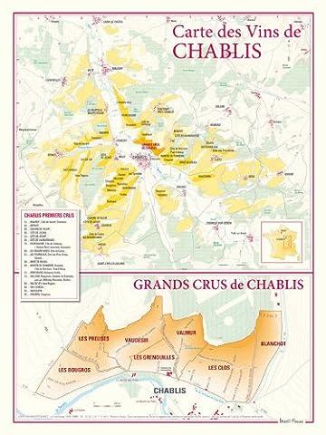 Carte des vins de Chablis et des Grands