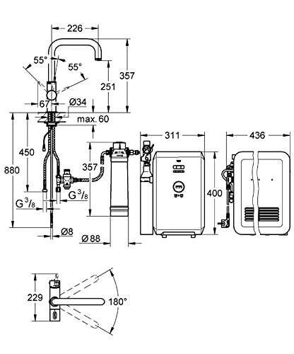 Grohe Blue Starter Kit U-Auslauf, 31324001 -