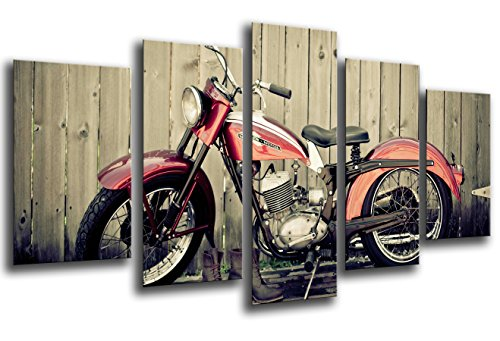 quadro-moderno-fotografico-base-in-legno-165-x-62-cm-motivo-moto-harley-davidson-vintage-rif-26112