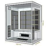 Artsauna Infrarotkabine/Wärmekabine Skagen 160 mit Flächenstrahlern & Hemlockholz | Infrarotsauna mit Glasfront für 3 Personen - 5
