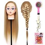 Shemrow 71,1cm capelli testa di manichino da parrucchiere pratica training Doll capi, Chrsitmas Gift Head Manequin