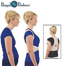 Pramukh Enterprice Royal Posture - Energizing Posture Support Align Your Spine Back Brace Support Garment Royal Posture Back Support Brace Bone Correction Care (L)
