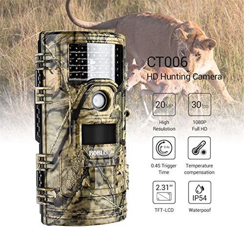 Mr. Fragile Jagdkamera, 20MP 1080P HD Wildlife Jagd- und Überwachungskamera, eingebaute Aufnahmefunktion, IP54 wasserdicht, Infrarot-Nachtsicht, für Outdoor-Tier-Monitoring & Home Security