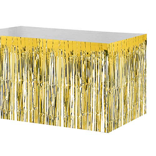 rty Tabelle Metallic Fringe Dekoration für Geburtstag Hochzeit Ereignis Festmahl (74 x 274cm) ()