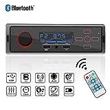 POMILE Autoradio Bluetooth MP3, Single Din Auto Audio Stereo Mit Touch-Panel Charging Port FM Radio 12V Fernbedienung Funktion FM USB/Aux