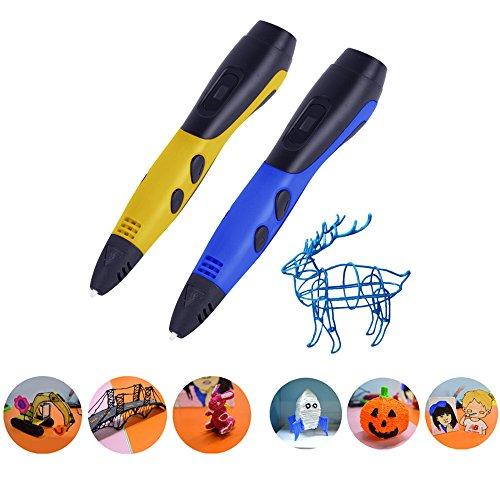 Ledyoung 3D Stift, 3D Druck Stift mit LCD Bildschirm für Kinder, Packung mit 1 Stift und 1.75mm PLA Filament von 16 Verschiedenen Farben (Für EU, Schwarz + Weiss) (for EU, White) - 5