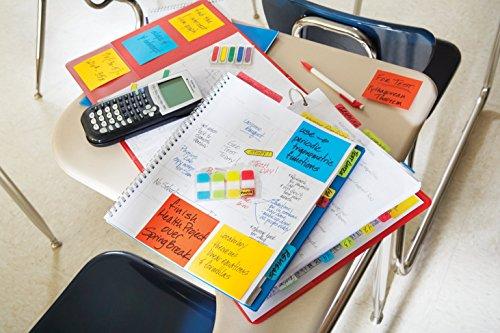 Post-it Index - Pack de 4 x 10 marcadores mini rígidos, colores agua, lima, amarillo y rojo