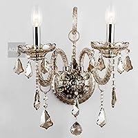 Doppio cristallo parete del soggiorno in stile europeo lampada da