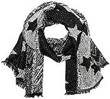 CODELLO Damen Schal 72095712, Schwarz (Black 7), One size (Herstellergröße: 70X190 cm)