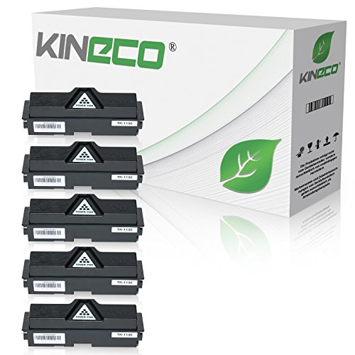 2530 Kopierer (5 Toner kompatibel zu Kyocera TK1130 ECOSYS M-2030 DN PN 2530 DN FS-1030 1130 MFP DP - 1T02MJ0NL0 - Schwarz je 3.000 Seiten)