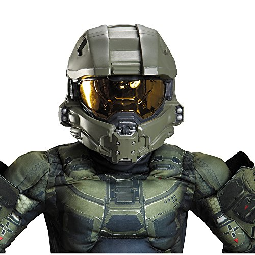 Halo Master Chief Overhead Costume Helmet Child One (Halo Chief Kostüme Kind Master)