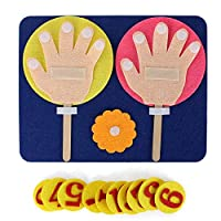 Dingcaiyi Mathematical Toys Finger Math Teaching Toys Environmentally Friendly, Odorless, Lightweight Teaching Toys
