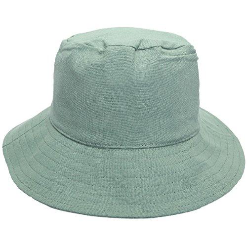 750f41fe985f2e Sportmusies Eimer Hüte für Herren Outdoor Frauen, Verstaubarer Angeln Jagd  Mütze Sun Schutz Fisherman Gap, Damen, Style 1-Mint Green(Crease),  Einheitsgröße