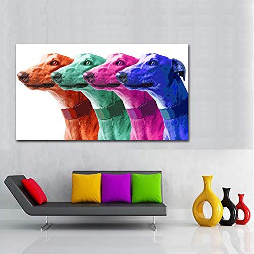 RTCKF Arte Astratta Gufo colorato Stampa su Tela Uccello Moderno Pittura Animale Decorazione da Parete Arte per Soggiorno (Senza Cornice) A2 30x60 cm
