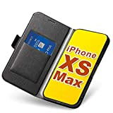 Coque iPhone XS Max, Ultra Mince Portefeuille (Emplacement pour Cartes + Fermeture...