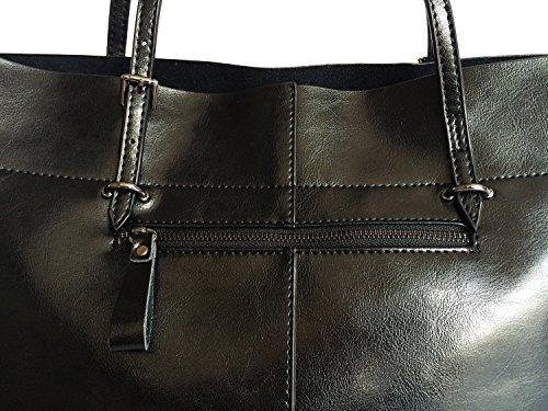 Panlom® Women's Vintage Genuine Leather Tote Shoulder Bag Handbag