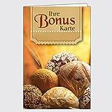 "Bonuskarte Bäckerei - ""Gemischtes Brot"" mit 10 Stempelfeldern / 250 Stück"