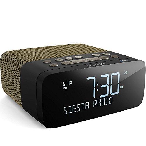 Pure Siesta Rise S Radiowecker (CrystalVue+-Display, Bluetooth, DAB/DAB+ und UKW) Gold