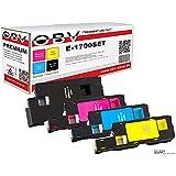 OBV 4 x kompatibler Toner für Epson Aculaser, 1x schwarz, cyan, magenta, gelb
