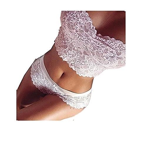 Sexy Lingerie Sets, Bestow Women Lace Tube Top Briefs Underwear Set Club Underwear Babydoll (medium,