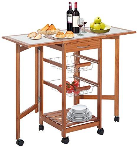 Homcom tragbar Rolling Tile Top Sobuy Küchenwagen