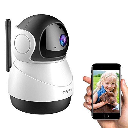 WiFi Babyphone mit Kamera, NIYPS 1080P HD WLAN Überwachungskamera, Haus IP Cam mit Bewegungsmelder und Infrarot Nachtsicht, 2 Wege Audio, Indoor Sicherheitskamera mit App für Haustier und Nanny Cam