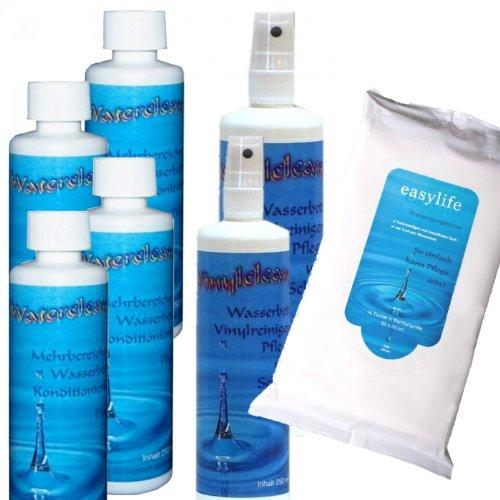 el-mantenimiento-para-camas-de-agua-agua-4-x-250-ml-acondicionador-y-limpiador-de-vinilo-clean-2-x-2