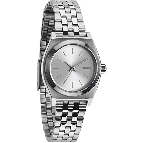 nixon-womens-quartz-watch-small-time-teller-a3991920-00-with-metal-strap